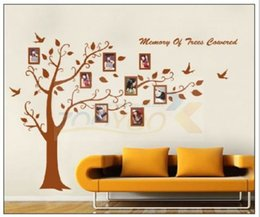 Wholesale Removable Memory - hot 94AB 180x250cm XXL brown fashion classic memory tree wall stickers home decor wall decal JM7194AB