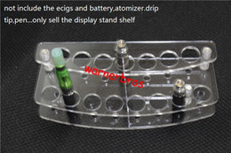 Wholesale Clear Acrylic Nail Rack - 2pcs Clear Acrylic Display Stand Rack Organizer Nail Polish Salon Wall Makeup case e cigarette dispay stand shelf ego ce4 vapor vape rack