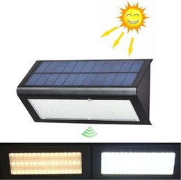 Wholesale Solar Light Bulb Dc - NEW Arrival Radar Sensor Solar Powered Light Outdoor Lamp LED Wall Light Garden Lamp ABS+PC Cover 6W 800lm Waterproof Bulb