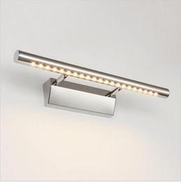 Apliques de pared de vanidad online-lámpara de espejo led tocador de baño luces con apliques de pared interruptor baño iluminación arriba abajo lámparas de interior 5w / 7w / 9w / 15w