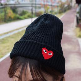 Ojos de gorro online-Venta al por mayor New Boy Girl simple Hip hop Skull Eye Heart Cap Otoño Invierno Sombreros de Punto Beanie Accesorios de Moda