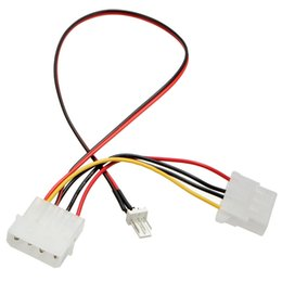 computer pin connectors Coupons - Wholesale- New Arrival 3 Pins to 4 Pins IDE Power Connector Cable Extension Cord Adapter For PC CPU Fan Computer Cables Connectors