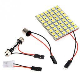 Wholesale Smd Festoon Light - 48 SMD 5050 Panel Bright 48 led panel 12v T10 W5W festoon Dome LED Bulb Lamp interior lighting auto parking car light