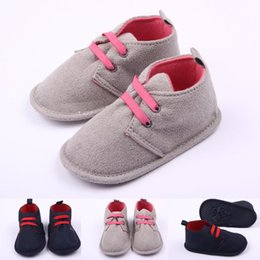 Wholesale 18 Month Winter Dress - Hot Sale Newborn Baby Shoes for Girls Boys Microsuede Lace-up Casual Dress Unisex Shoes 0-18 Months