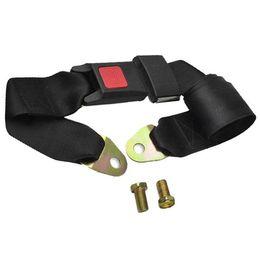 Wholesale Two Point Seat Belt - 1x Black Adjustable Car Truck Seat Belt Lap Belt Universal Two Point Safety F00212 SPDH