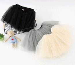 Wholesale infant black tutu skirt - Kids Clothing Girls TUTU Princess Skirts Black White Pink Infant Toddler Baby Pettiskirt Petticoat For Little Girls Sale