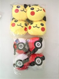 Wholesale Game Elf - Phone Key Bag Decoration Plush Toys Pikachu Elves Ball keychain Pendant Pikachu Elf Ball Stuffed Animals & Plush Toys Keyring 6cm (2.4 inch)
