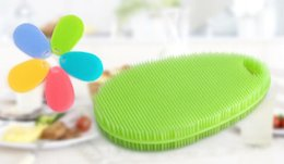 Wholesale kitchen hot pads - Magic Dish Bowl Pot Pan Wash Cleaning Brushes Hot Silicone Brush Housekeeping Cooking Tool Cleaner Sponges Scouring Pads Kitchen Accessories