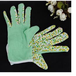 Trabalhando luvas de algodão on-line-100% Algodão Antiderrapante Pessoal Segurança No Local de Trabalho Macio Jersey Mulheres Luvas De Jardinagem Trabalhando 4 cores Frete Grátis WA0592