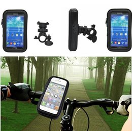 Wholesale Support Iphone 4s - Motorcycle Bicycle Phone Holder Mobile Phone Stand Support for iPhone 5 5S 5C 4S 6 Plus GPS Bike Holder with Waterproof Case Bag