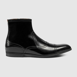 Wholesale Italy Boots Men - Man boots Luxury brand fashion Genuine leather Italy Designer shoes men Martin Boots Size 38-44 Model 190563125