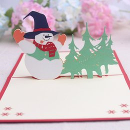 Wholesale Thank 3d - Christmas Cards Set 3D Pop -Up Greeting Card For Xmas ,Festival ,Birthday ,Thank You ,Anniversary
