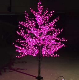 Luci di albero artificiale in fiore di ciliegio online-Lusso fatto a mano artificiale LED Cherry Blossom Tree luce di notte di Natale capodanno decorazione di nozze Luci 1,8 m luce dell'albero led LLFA
