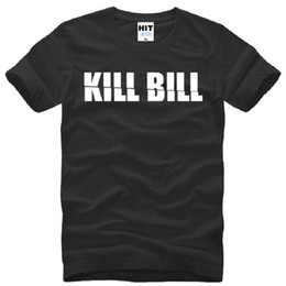 Wholesale Bill Sleeves - New Designer Fashion Kill Bill T Shirt Men Summer Short Sleeve Cotton Letter Print T Shirts Men Kill Bill T-shirts Tops Tees Man Clothing