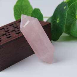 Wholesale Rose Carved Natural Stones - 2-2.5inch wholesale New 100% natural Rose crystal point quartz points reiki healing point crystal Cure chakra spirit energy stones