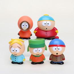 Wholesale South Park Mini Figures - 5pcs set New South Park Stan Kyle Eric Kenny Leopard Mini PVC Action Figure Toys Dolls