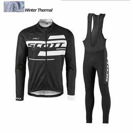 Wholesale New Cycling Kits - 2017 New winter thermal fleece cycling jerseys long sleeve bicycle mtb bike winter cycling clothing sport kits bicycle men wear AK-77