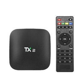 Wholesale Media Player Tuner - 2017 Hot TX2 Android TV Box Quad Core RK3229 2GB 16GB KD 17.4 Krypton Fully Loaed BT 4K Android 6.0 Media Player PK IPTV X96 MXQ PRO