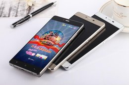 """Wholesale Android Smartphone 512 - Huawei p8 plus 5.5"""" MTK6582 Clone smartphone Android phone dual Sim Unlock Smartphone 512 RAM 1GB ROM show 32GB Camera"""
