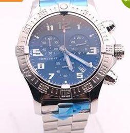 Wholesale Top Dhgate - DHgate hot sale top store jason668 luxury brand watches men BLACK DIAL SS watch avenger seawolf chrono quartz sports watch men dress watches