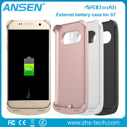 Wholesale Emergency Charger Case - 2016 best products 4200mah external battery charger case for Samsung s7 backup case Emergency Power External power Case