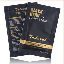 Wholesale Foot Cleanse - DHL DOBERYL Blackhead Nose Remover Masks Acne Treatment Masks Cleansing Peel Off Black Head Black Mud Pore Strips Cleaner Facial Mask Useful