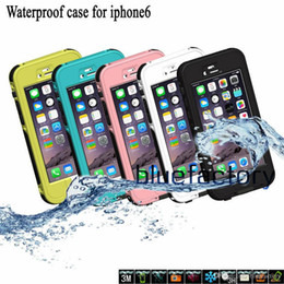 Wholesale Snow Proof Iphone Case - Waterproof Touch Screen Case Full Buttons Anti-Dirt Snow Proof Swimming Sport Underwater Skin Cover for iPhone 6 4.7 iphone 6 plus