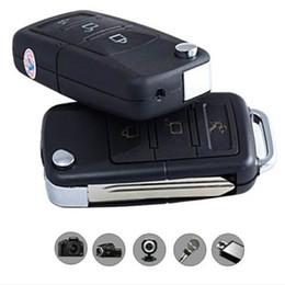 Wholesale Dv Car Keychain Video Camera - Mini Car Key Camera HD Car KeyChain Camera With Motion Detect HD Video Recorder Mini Covert DVR Portable Camcorder Security Camera