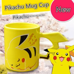 Wholesale Wholesalers Christmas Coffee Mugs - Pre-sell New Fashion cartoon poke Pikachu mark cup water cup anime Cute Coffee Mugs Tea Water Bottle Cup for Christmas gifts B0515