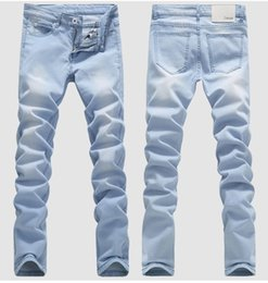 Wholesale Jeans Vaqueros Hombre - mens designer biker jeans solid color fashion skinny Jogging pants casual man trousers brand vaqueros hombre Hip Hop Harem pants for man