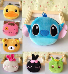 Wholesale Fabric Animal Coin Purses - Stitch Girl Lady's Plush Cotton Hand Coin Purse BAG ; Pocket Wallet Pouch ; Key Wallet Hand 24 p