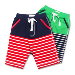 Wholesale Swimming Pants For Children - Wholesale Meney's Baby Boys Pants Striped Kids Baby Boy Surf Board Shorts Beach Swimming Children Summer Sport Trunks Shorts for Boys