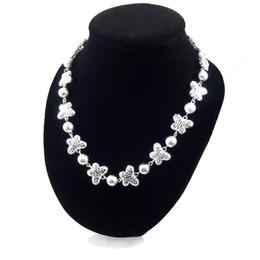 Wholesale Snake Chain Neckalce - Silver Butterfly Neckalce High End Market Jewelry Women Necklace Chain Collar Chocker 925 Sterling Silver Ladies Jewelry