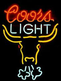 2019 coorisce i display di luce Insegna al neon di Coors Light Breathing Bull Insegne fatte a mano su misura per vetro reale Negozio di birra KTV Club Pub Display pubblicitario Insegne al neon 15