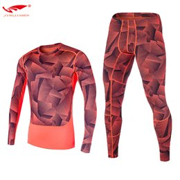 Wholesale Tight Mens Suit - Jimesports Soccer Jerseys Mens Compression sets Long Tight Shirt + Pants Fitness Men Compression Quick Dry Breathable Tight Suits