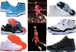 Wholesale Mens Runing - Retro 11 72-10 Concord Bred Legend Blue Gamma Blue Space Jam Retro 7-8-9-10-11-12-13 Basketball Shoes Mens & Women's Retro 11s GS Sneakers