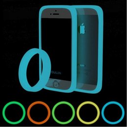 Wholesale Circle Soft Case - 2016 Multi-function Silicone Noctilucent Wrist ring Bumper Case For Phone Case Soft Circle Cover