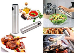 Wholesale Metal Sprayer - New Stainless Steel Olive Oil Spray Pump Fine Bottle Oil Sprayer Pot Cooking Roast Bake Oil Bottle Tools Oil Dispenser