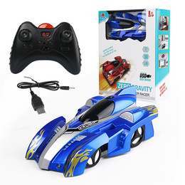 Wholesale Battery For Rc Model - 2018 new Novelty toys children RC Wall Climbing Car ABS Climbing car for kids Car toys 3 colors C3312