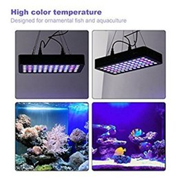 Wholesale Blue Lights For Fish Tanks - Dimmable 165w LED Aquarium Light lighting Full Spectrum For Freshwater and Saltwater Fish Coral Tank Blue and White LPS SPS