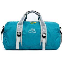 Wholesale Travel Cloth Shoulder Bag - Wholesale-Hot Sale Folding Fashion Travelling Bag Large Capacity Leisure Single Shoulder Bag Body Building Sports Woman Luggage Bag H018