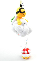 "Wholesale Wholesale Mario Bros Birthday - 7"" 18CM 20pcs lot Super Mario Bros Lakitu Spiny Plush Toy Mario Figure Toy for children's birthday gift"