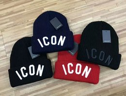 Wholesale Knit Beanie Hats For Women - wholesale high quality embroidery ICON winter beanies brand hat warm knitted warm hat cap for women men