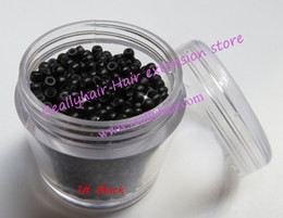Wholesale Wholesale Silicone Micro Beads - Wholesale-1000pcs bottle silicone nano ring micro nano bead with silicone line 7 Color options for nano tip hair