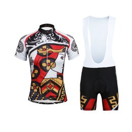 Wholesale Card Clubs - New Arrival Poker Club Cards Summer Cycling Jersey Sets Breathable Quick Dry Bike Bicycle Jersey Bib And Non-bib Pants