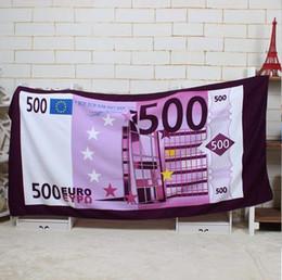 Wholesale British American Flags - new fashion arrival 70*140cm printed microfiber Euro bath beach towel for adults serviette ronde American British flag beach towel