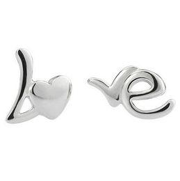 Wholesale Earrings Feet - Love Letter Earring 925 Sterling Silver Earring Silver Women Wedding Stud Beach Foot Earring Female Retro Casual Earrings D1101