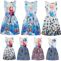 Wholesale Costume Pink Tutu Kids - Baby Kids children Clothing Girl's Flower party Dresses 2017 girls ball gown princess costumes frozen elsa dress girl toddler clothes