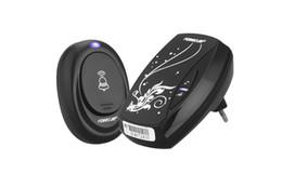 Wholesale Door Control Single - 36 Songs EU Plug in Wireless Remote Control Doorbell Digital Door Bell Smart Single Receiver Black