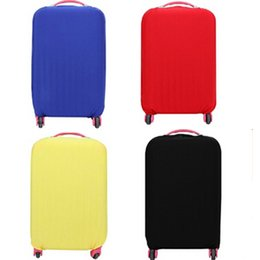 Wholesale Cover Luggage - Wholesale-Newest Suitcase Protective Covers Apply To 18~30 Inch Case,Elastic Travel Luggage Cover Stretch 4 Colors